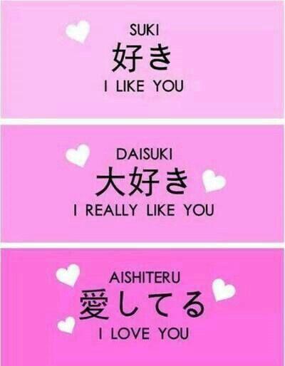 Suki Daisuki Aishiteru I Like You I Really Like You I Love