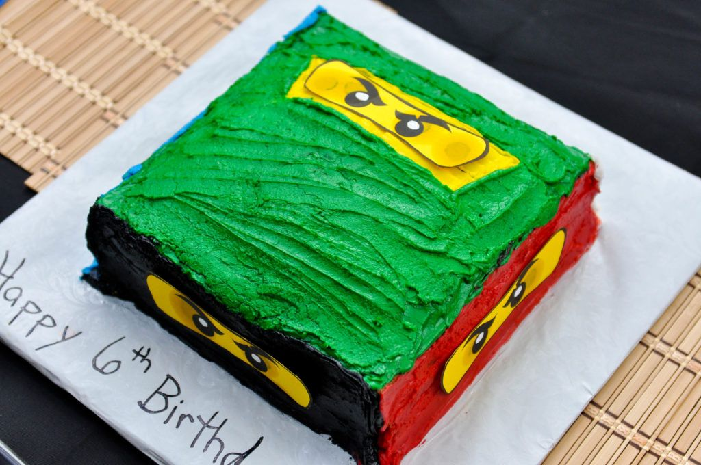 Ninjago Cake Ninjago 6th Birthday Party Ninjago Party Ideas Not