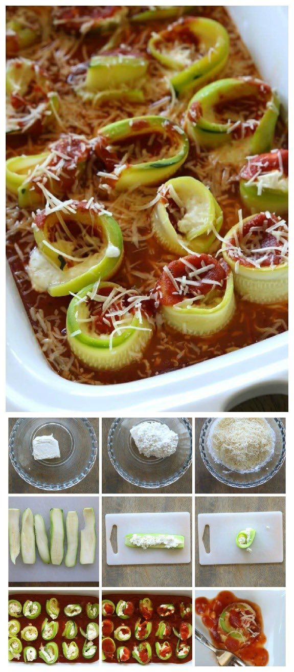 Low-Carb Slow Cooker Zucchini Lasagna Roll-Ups from 365 Days of Slow Cooking sounds like a delicious family friend casserole made in the Crock-Pot Casserole Crock Slow Cooker (or use the oven.) This was featured for Casserole Crock Saturdays on SlowCookerFromScratch.com.