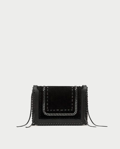 52d1f532 Image 2 of LEATHER CROSSBODY BAG WITH CHAIN from Zara | Accesories ...