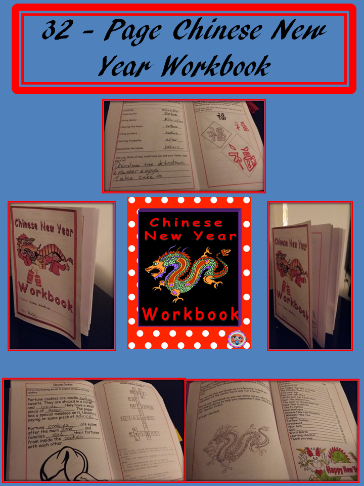 chinese new year workbook fun way to teach children about chinese new year