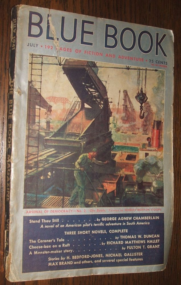 Vintage Blue Book Magazine July 1941 George Agnew Chamberlain ...