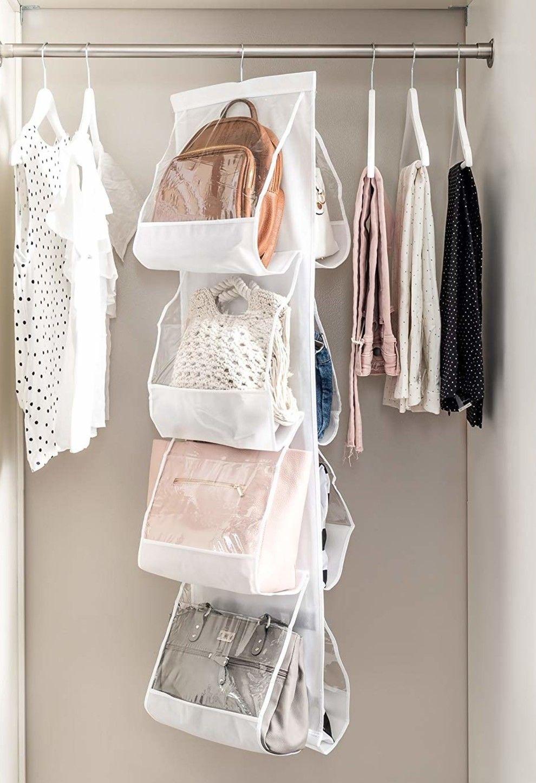 26 Things That Ll Transform Even The Smallest Of Closets Organizing Purses In Closet Purse Organization Handbag Organization