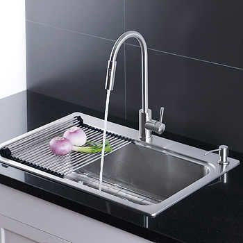Afa Stainless Single Bowl 33 Dual Mount Kitchen Sink Faucet Combo Best Kitchen Sinks Sink Faucets Sink
