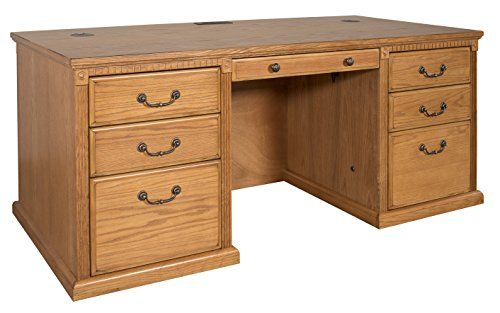 Amazing kathy ireland Home by Martin Huntington Oxford Double Pedestal Executive Desk