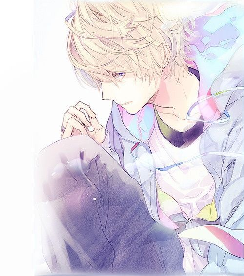 Anime Boy With Blonde Hair And Purple Eyes Google Search Anime