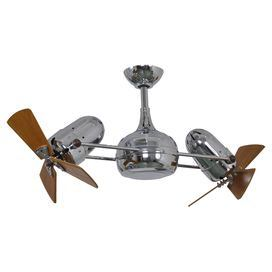 Showcasing 2 Propeller Style Heads This Handsome Ceiling Fan