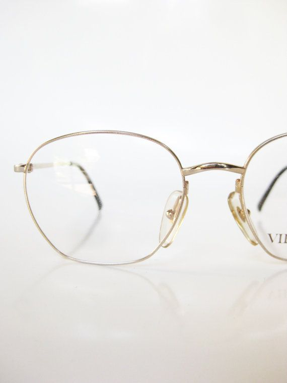 cefc4cdd8df Gold Metal Eyeglasses Frame Vintage Glasses 1980s Oval Womens Ladies  Eyeglasses Minimalist Optical Frames 80s Eighties Indie Hipster Wire