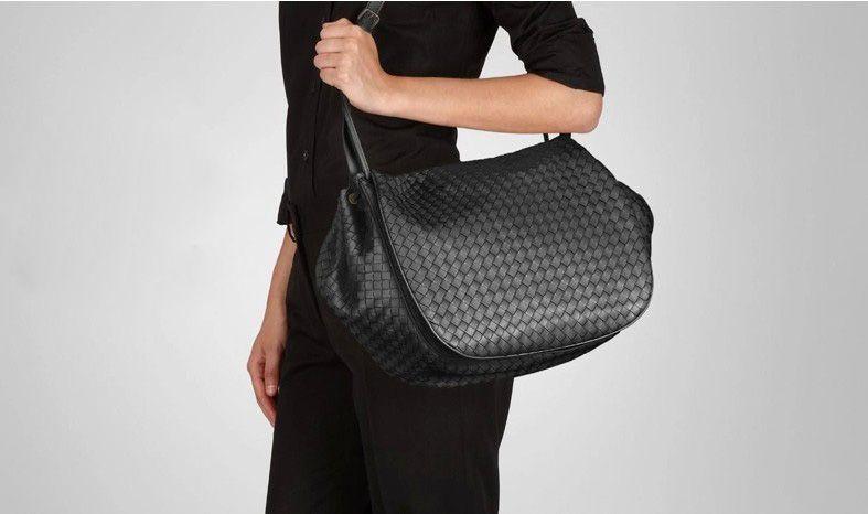 New Hot Weave Sheepskin Leather Cross Body Bag RL856