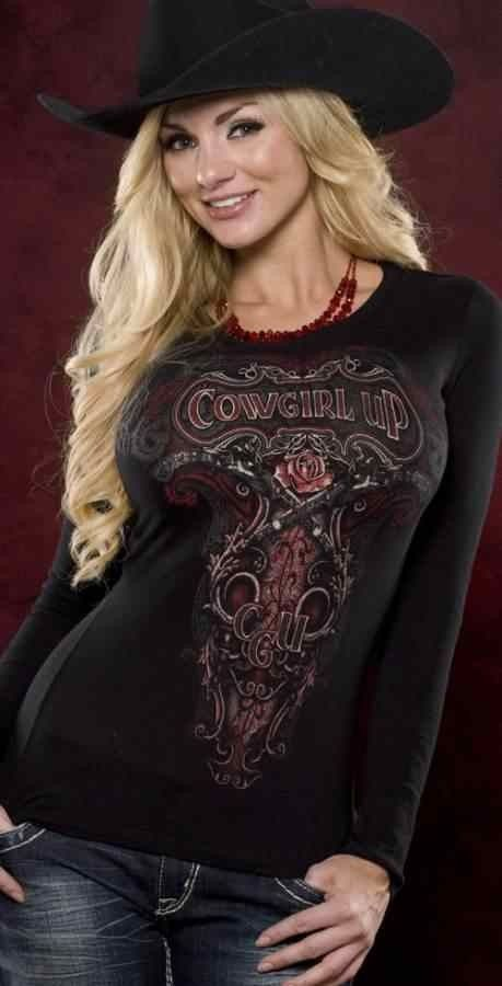 The Crazy Heifer - Paisley Gun's and Roses T, $28.95 (http://www.thecrazyheifer.com/paisley-guns-and-roses-t/)