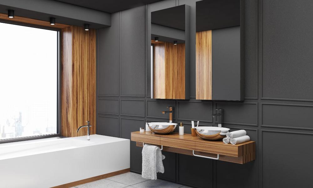 Faro Xl Light Prestige Lampa Sufitowa Oprawa Natynkowa Czarna Ip44 Bathroom Interior Design Bathroom Interior Framed Bathroom Mirror