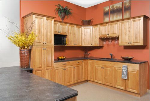 Orange Painted Kitchens kitchen backsplash ideas with oak cabinets |  nest – buying a