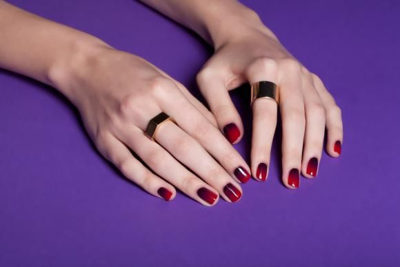 Cherry Bomb Ombre Red Ombre Nails Red Nails Nail Gelish Design