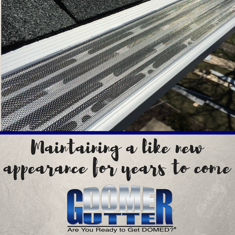 Gutterdomebenefits We Coat Our Gutter Guards With A Clear Anodizing Finish To Prevent Corrosion This Means That Your Gutter Gua Gutter Protection How To Install Gutters Gutter Screens