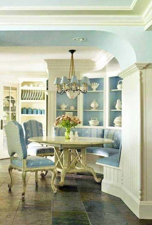 Country in Blue and White | French country dining room ...