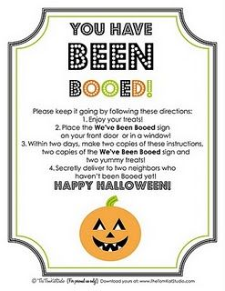Such a neat idea! Boo someone! A lot of fun and a great way to  meet neighbors, make new friends or just an opportunity to do something nice for existing friends! #Halloween #games #friends
