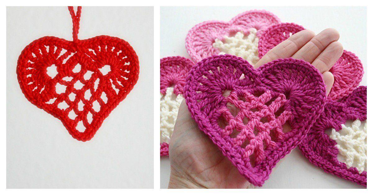 Heart Motif Free Crochet Pattern Free Crochet Heart Shapes And