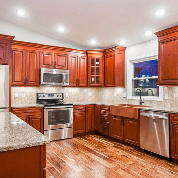Charleston Cherry Kitchen Cabinets - RTA Cherry Cabinets from Lily ...