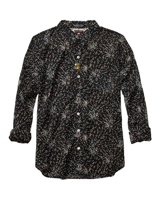 Iconic Maison Scotch Printed Boxy Fit Shirt > Womens Clothing > Shirts at Maison Scotch