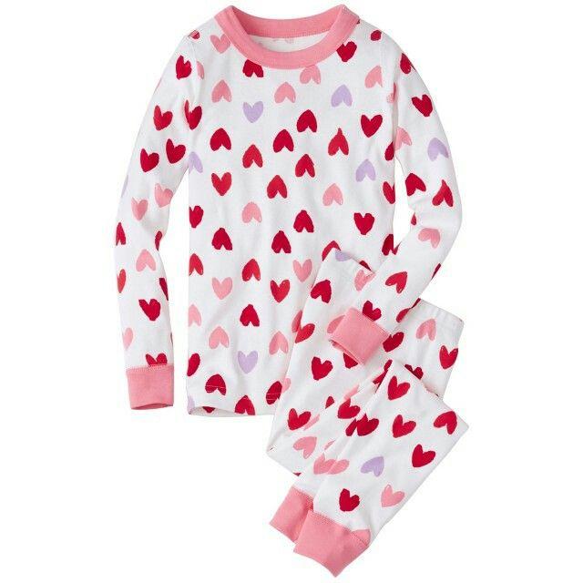 valentines day pajamas childrens pajamas valentines pjs heart print pjs girls v - Valentines Day Pajamas