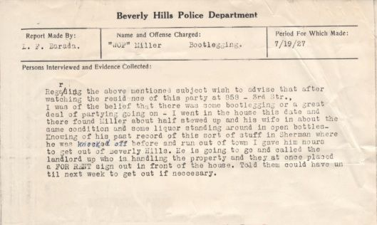 1920s police report featuring a bootlegger who was  - homicide report template