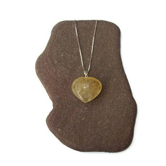 Citrine heart pendant gemstone heart necklace orange heart etsy citrine heart pendant gemstone heart necklace orange heart mozeypictures Image collections