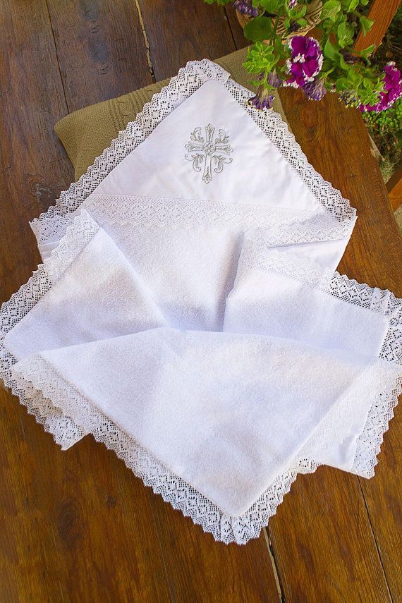 Embroidered Сhristening Blanket   Personalised Christening Blanket ... 3a3757a77