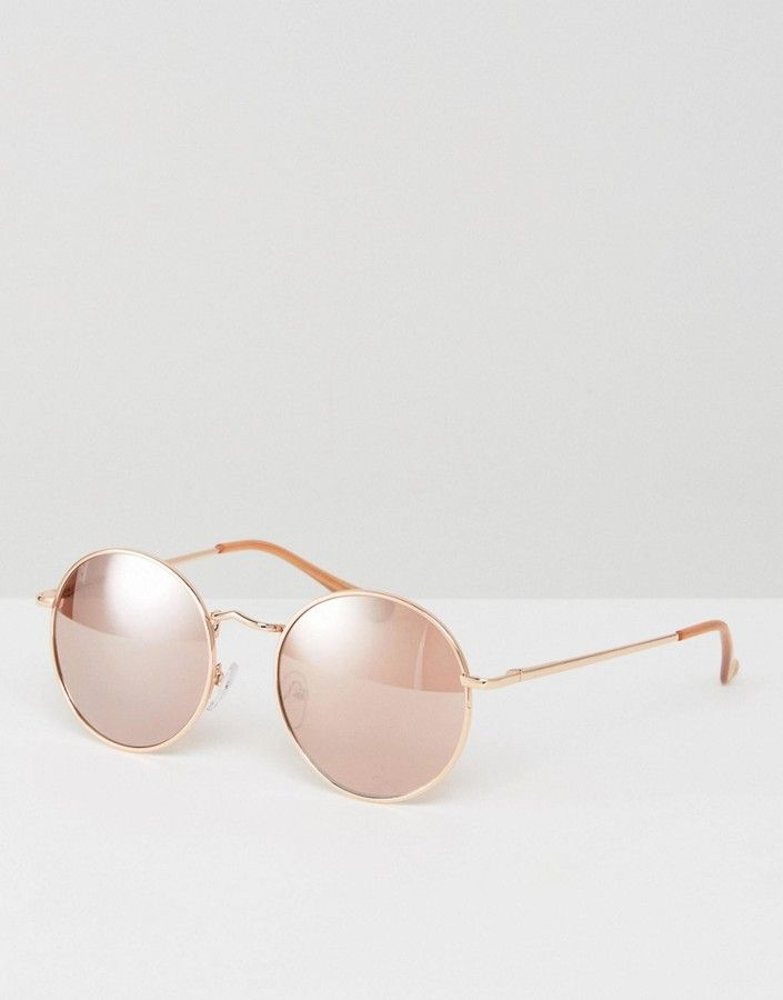 de52f4fd5 ASOS 90s Metal Round Sunglasses In Rose Gold $19.00 http://shopstyle.it