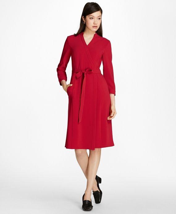 54027373f78 Brooks Brothers Matte Satin Wrap Dress