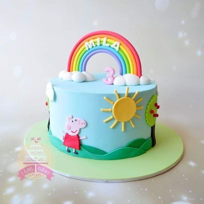 Peppa Pig Rainbow Cake Cakes For Kids Pinterest Peppa Pig