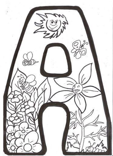 Letras Primavera Para Colorear Recursos escolares para  Primavera