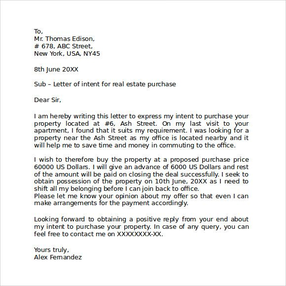 Letter Of Intent Real Estate template Pinterest Rental space