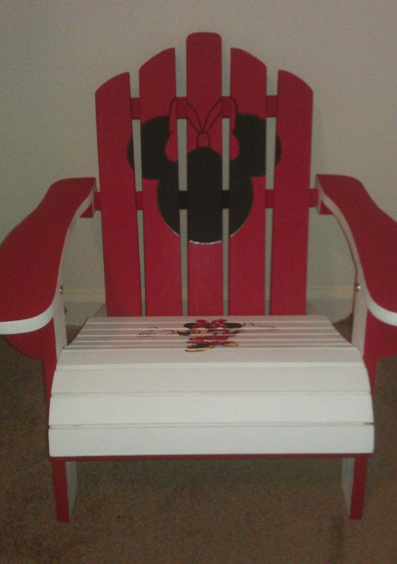 Minnie Mouse Handpainted Adirondack Chair by