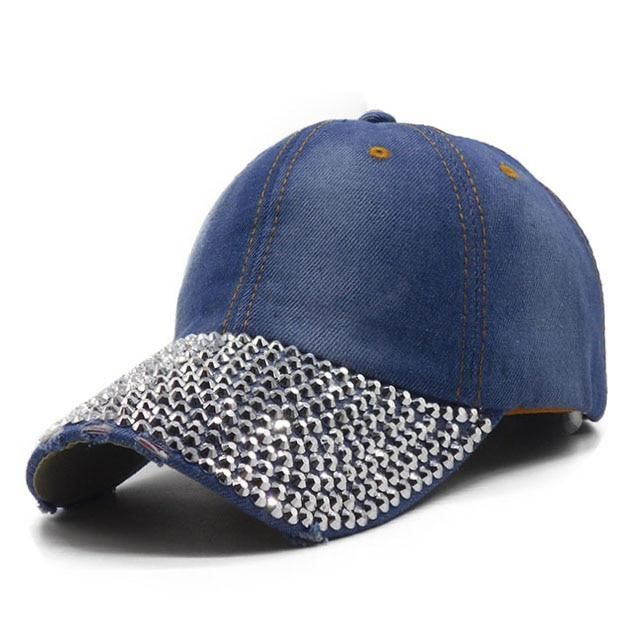 02506ce06 Rhinestone Hats Luxury Female Baseball Cap in 2019 | Wedding suits ...