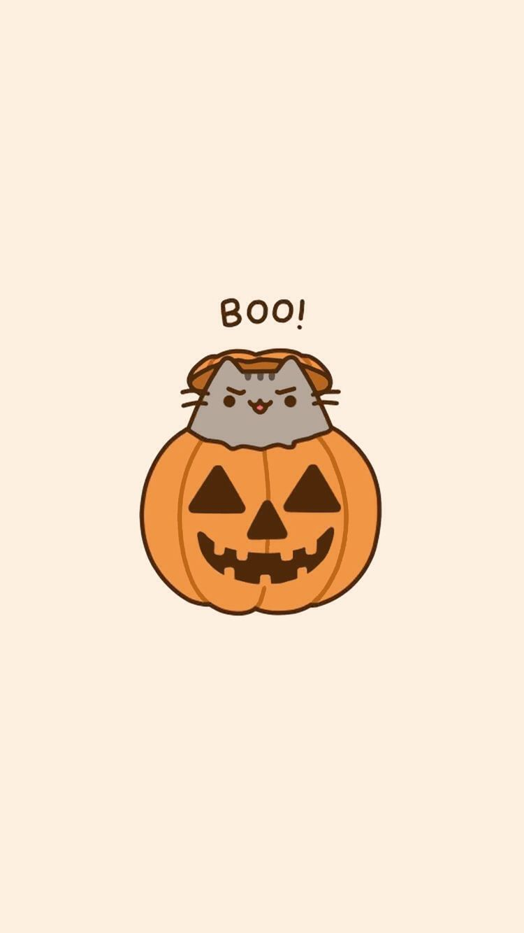 Fondecranhalloween Halloween Wallpaper Iphone Cute Wallpaper Backgrounds Pusheen Cute
