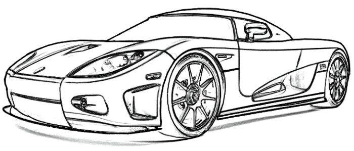 Koenigsegg CCX1 Coloring Page Színezőlapok Sportautók