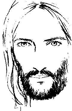 Resultado de imagen para rostro de jesus caricatura  Frases