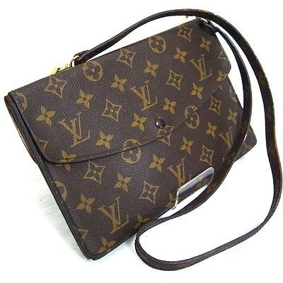 fba2e2e3eeed Auth LOUIS VUITTON Monogram Pochette Double Rabat M51815 Shoulder Clutch  Bag Pur