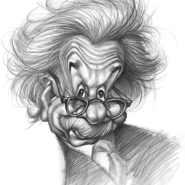 Artista Vizcarra On Instagram Einstein Joanvizcarra Vizcarracaricatures Drawing Art Arte Artwork Arti In 2021 Portrait Art Caricature Realistic Drawings