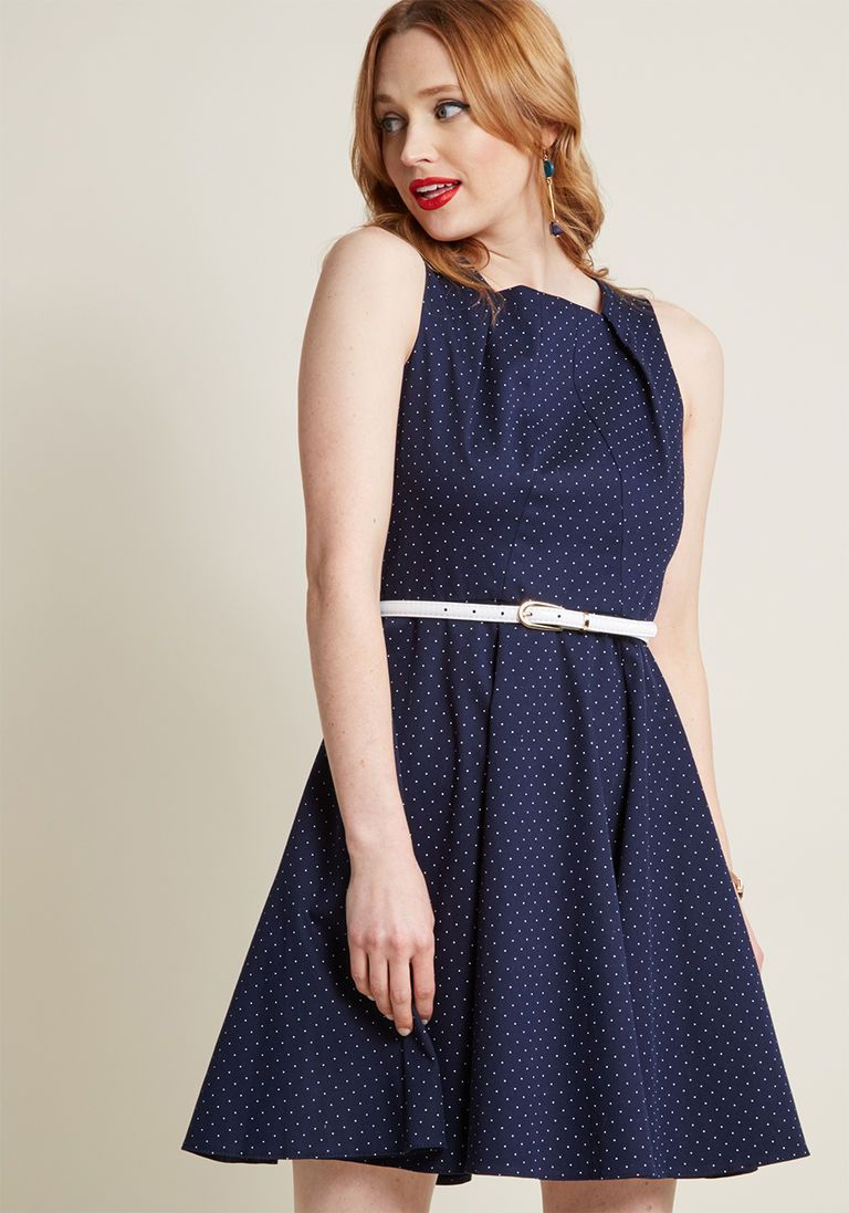 Closet London Come into Bloomsbury ALine Dress in Dots in