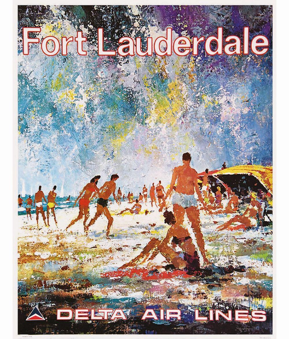 """Florida Delta Air Lines 8.5/"""" X 11/""""  Travel Poster"""