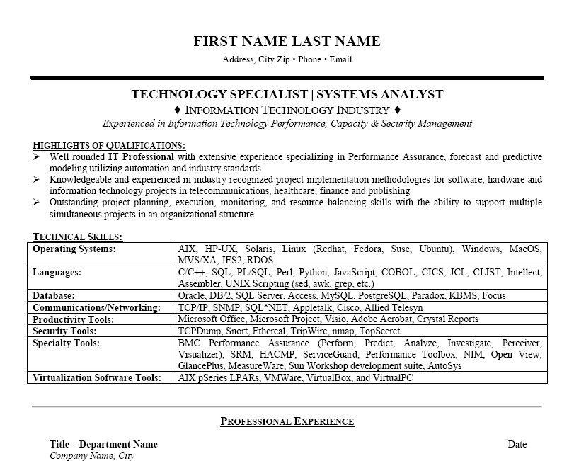 Click Here to Download this Technology Manager Resume Template - Information Technology Specialist Resume