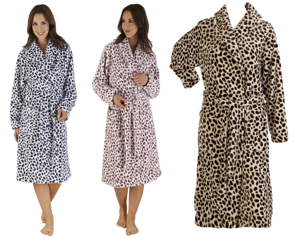 43d635203e Ladies Slenderella Animal Print Wrap Dressing Gown (Various Colours) - Mill  Outlets