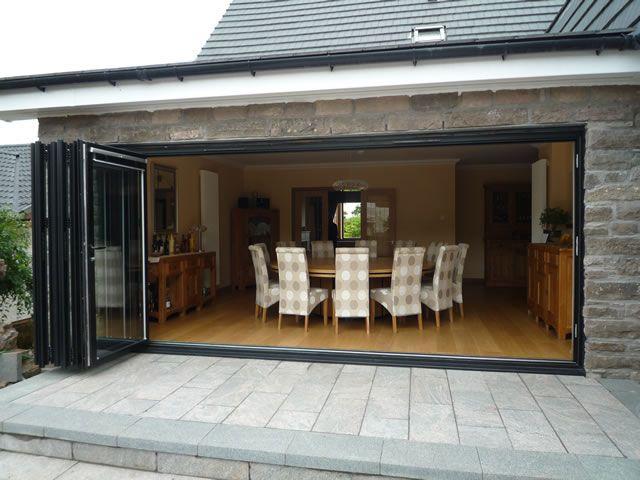Bi fold doors for outdoor area el fresco pinterest for Patio outside bifold doors