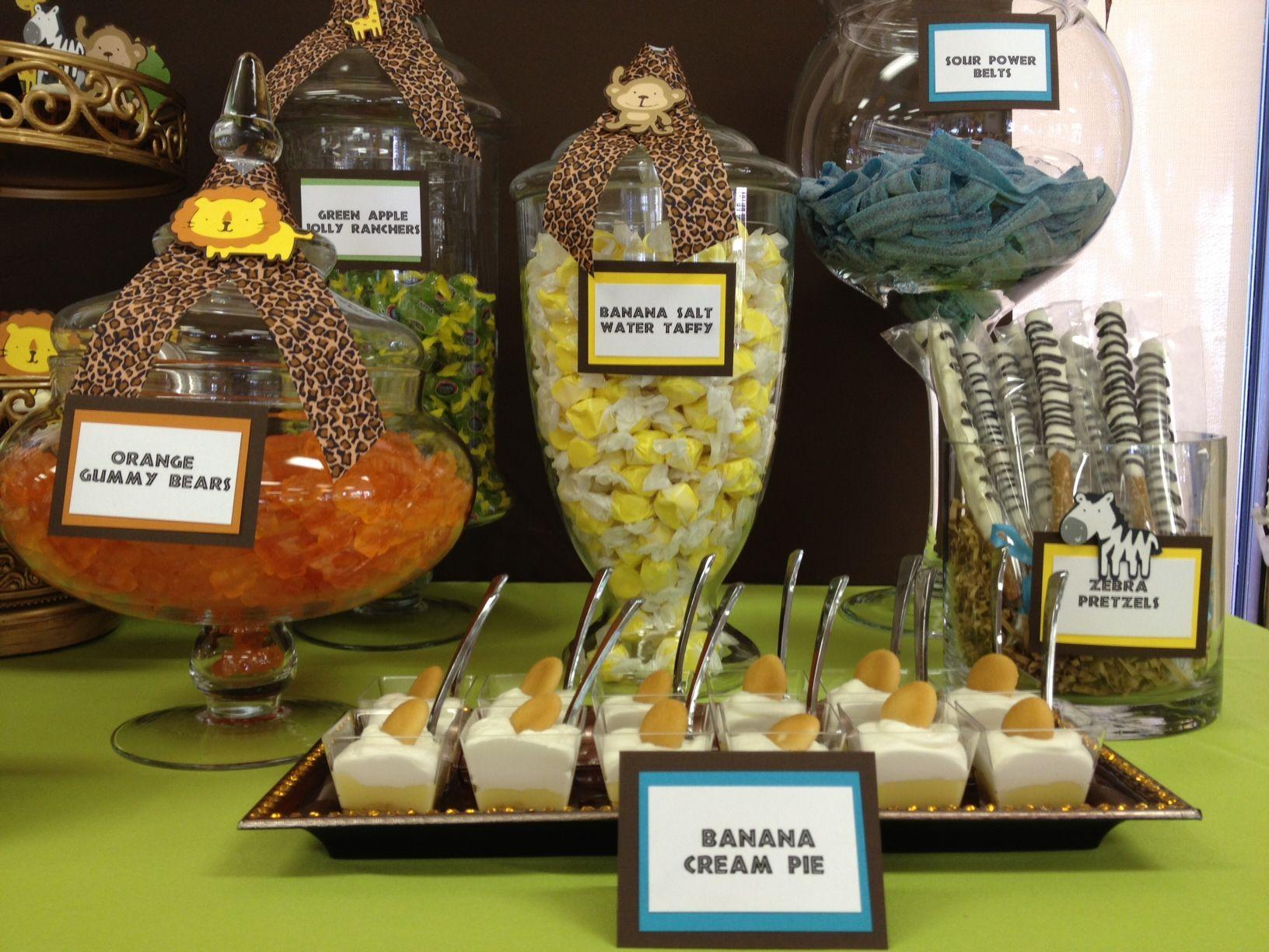 Safari / Jungle Theme Baby Shower Candy Table By OC Sugar Mama