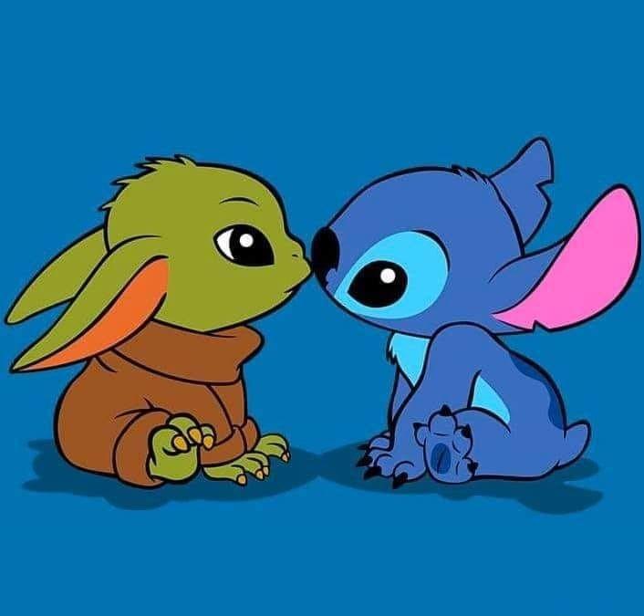 Baby Yoda Stitch Yoda Wallpaper Cute Disney Wallpaper Cute Cartoon Drawings
