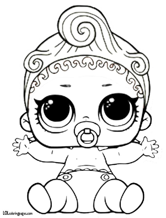 Lol Suprise Doll Coloring Pages Free Printable Lol Dolls Colouring Pages Coloring Pages