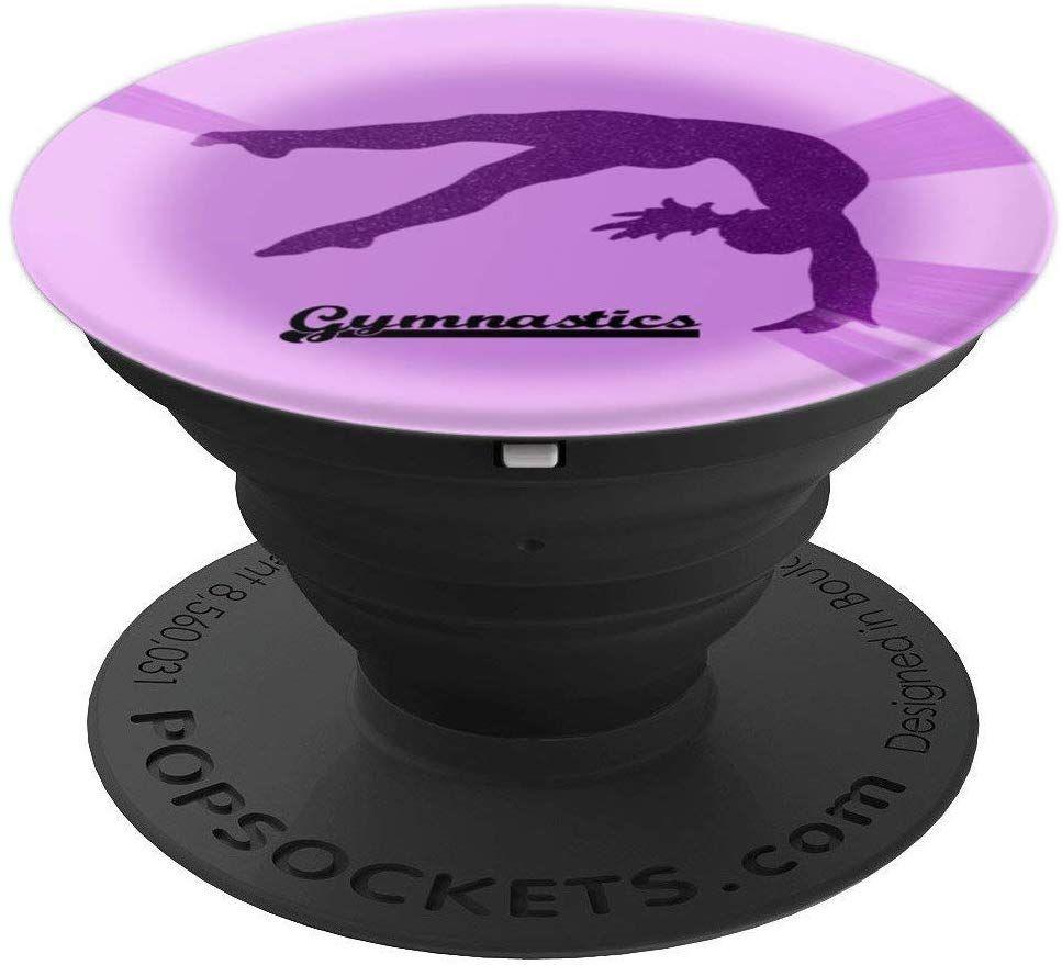 Purple Gymnastics Handspring PopSockets Grip and