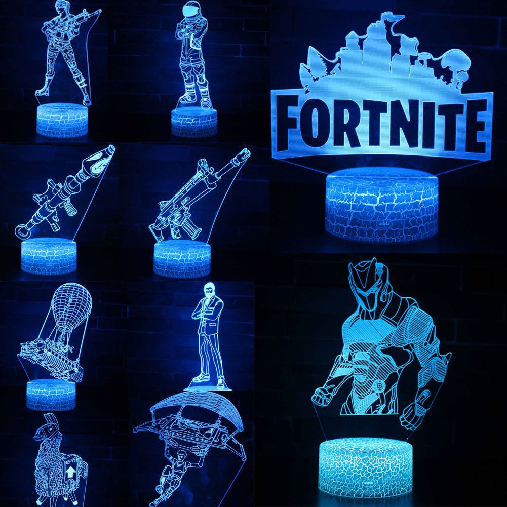 Battle Royale Game Fortnite 3d Led Night Light Action Figure Remote Xmas Lamp Battle Royale Game 3d Led Night Light Led Night Light