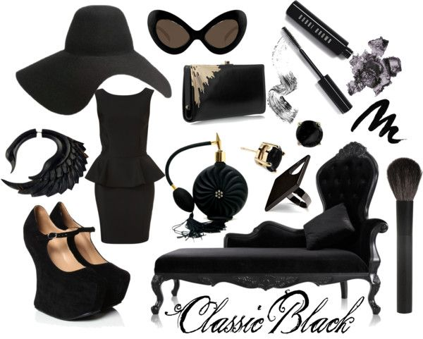 """""""Classic Black"""" by kimivyne on Polyvore"""